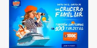 Sortean un crucero familiar y tarjetas de 100€