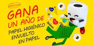 Gana un año de papel higiénico envuelto en papel Renova