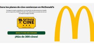 Consigue una entrada de cine con McDonald's