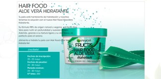 Prueba gratis Hair Food Aloe Vera Hidratante de Garnier