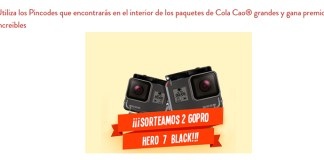 Cola Cao sortea 2 GoPro Hero 7 Black