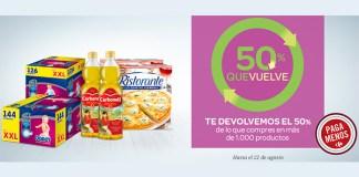 Carrefour te devuelve el 50% de tu compra este verano