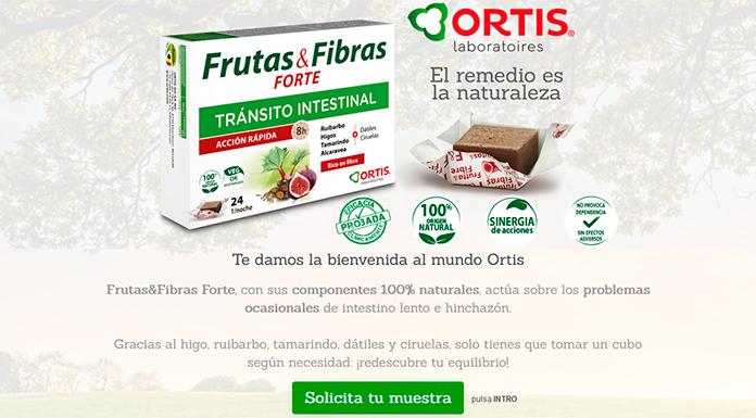 Muestras gratis de Frutas & Fibra Forte de Ortis
