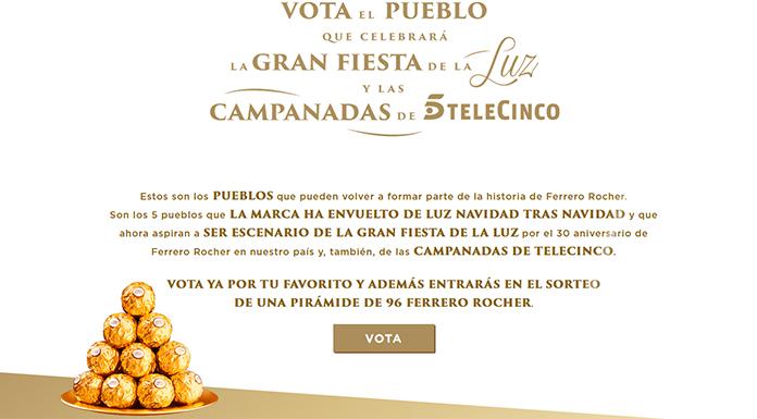 Gana una pirámide de Ferrero Rocher