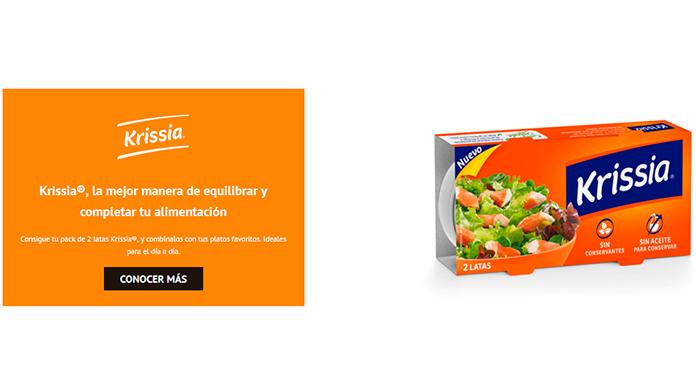 Prueba gratis Krissia con Correos Sampling