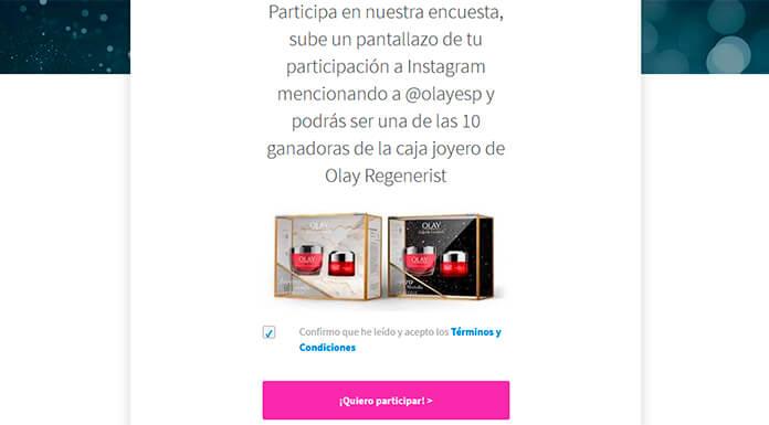 Gana una caja joyero de Olay Regenerist