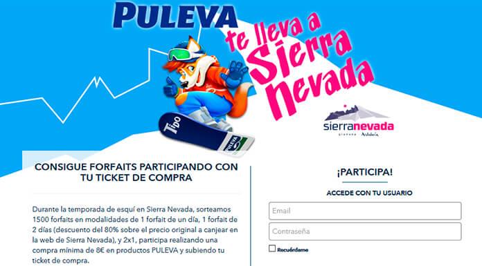 Llévate gratis forfaits en Sierra Nevada con Puleva