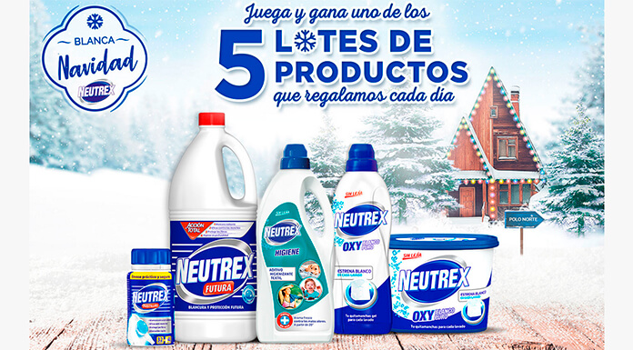 Neutrex sortea 5 lotes de productos cada día