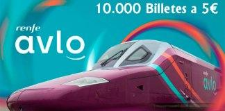 10.000 billetes a 5 euros con el nuevo AVLO de Renfe