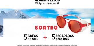 Alain Afflelou sortea 5 gafas de sol y 5 escapadas para dos