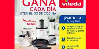 Gana cada día utensilios de cocina con Vileda