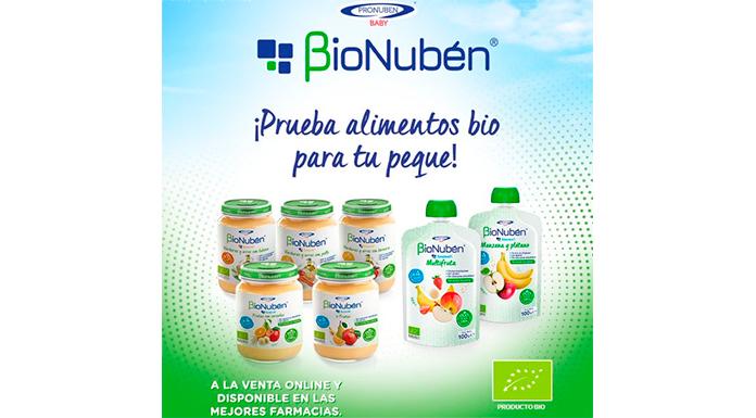 Prueba gratis los purés y pouches ecológicos de BioNubén