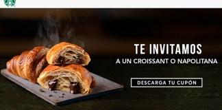 Starbucks te invita a un croissant o a una napolitana