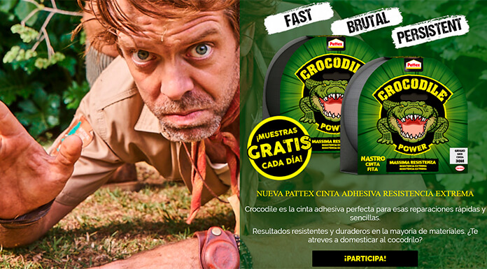 Muestras gratis de cintas americanas Pattex Crocodile Power