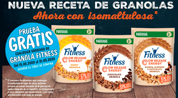 Prueba gratis Fitness Slow Release Energy de Nestlé
