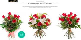 Ramos de Interflora para San Valentín