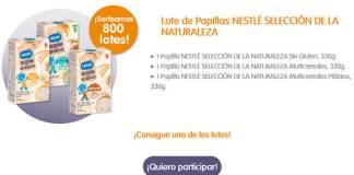 Sortean 800 lotes de papillas Nestlé Selección de la naturaleza
