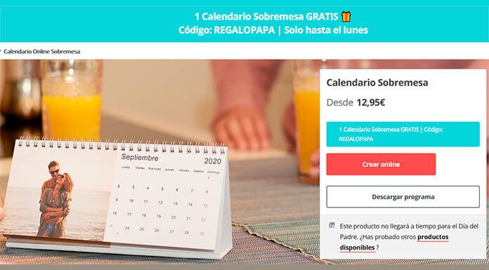 Calendario sobremesa gratis con Hofmann