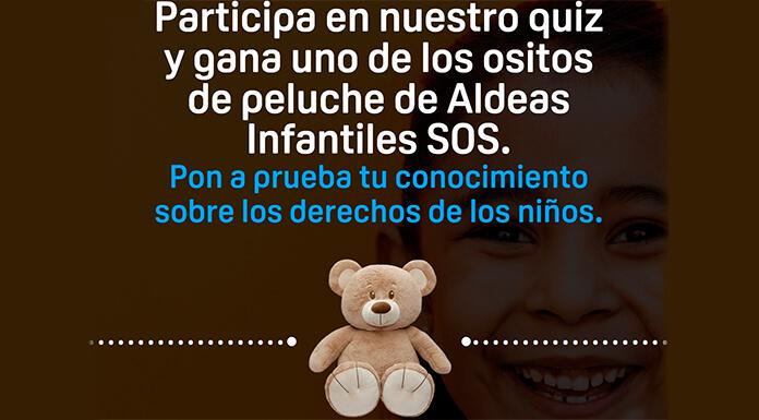 Gana un osito de peluche de Aldeas Infantiles SOS