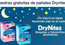Muestras gratis a domicilio de pañales Drynites