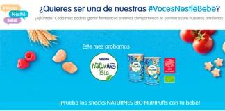 Nestlé Bebé da a probar gratis Naturnes BIO NutriPuffs