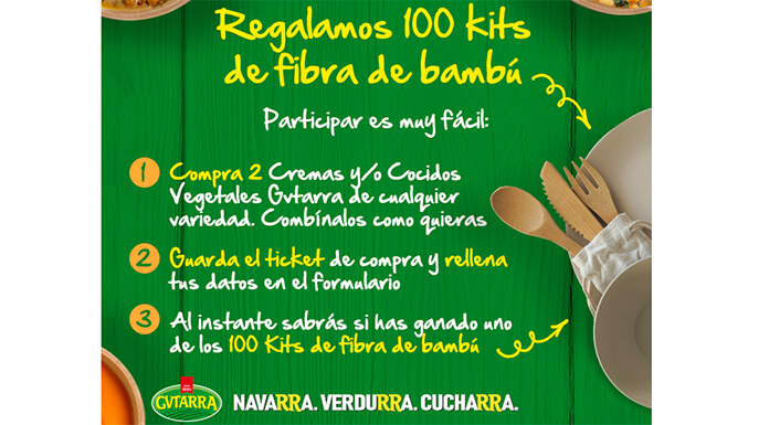 Gvtarra regala 100 kits de fibra de bambú
