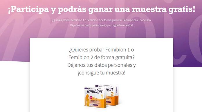 Gana una muestra gratis de Femibion 1 o Femibion 2