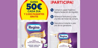 Gana 50 euros y papel higiénico con Regina