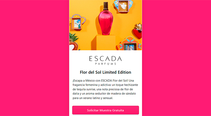 Muestras gratis del perfume Escada Flor del Sol Limited Edition