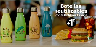 Exclusivas botellas reutilizables en McDonald's por 1€