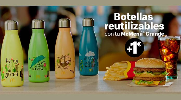Exclusivas botellas reutilizables en McDonald's por 1€