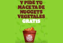 Maceta de nuggets vegetales gratis con Burger King
