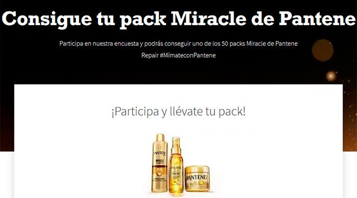 Consigue uno de los 50 packs Miracle de Pantene