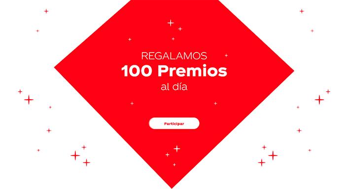 Coca Cola regala 100 premios cada día