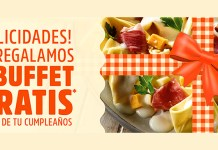 Buffet gratis por tu cumpleaños con Muerde La Pasta