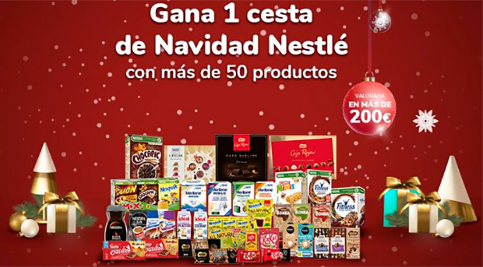 Sorteo de 10 Cestas de Navidad Nestlé