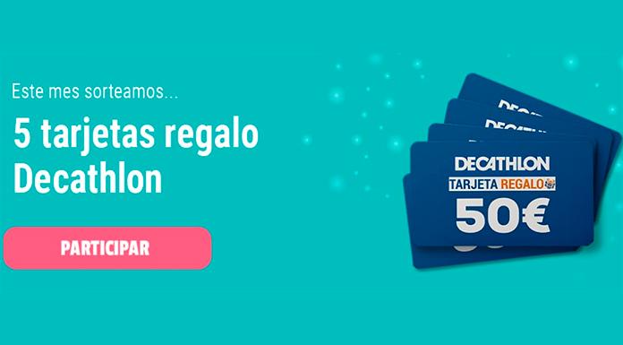 Sorteo de 5 tarjetas regalo Decathlon de Central Lechera Asturiana