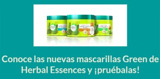 Gana un pack de mascarillas Green de Herbal Essences