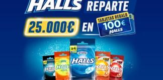 Halls reparte 25.000 euros en tarjetas regalo