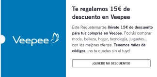 Yoigo te regala 15 € de descuento en Veepee