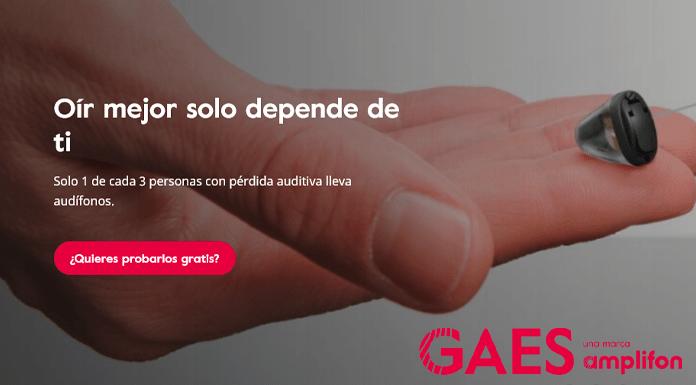 Prueba gratis audífonos con GAES