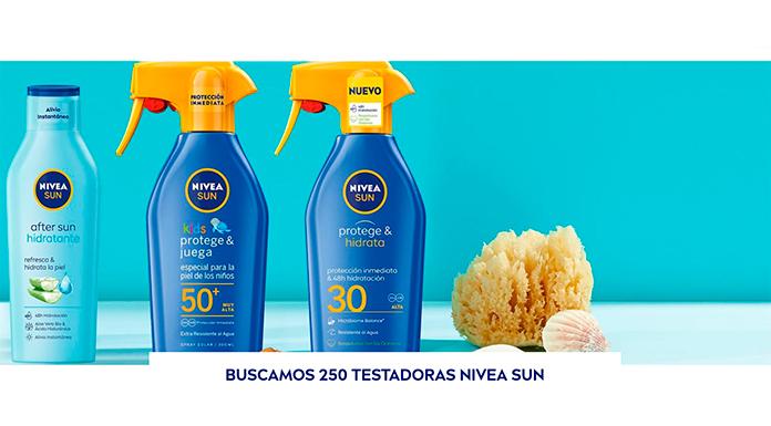 Buscan 250 Testadoras de Nivea Sun