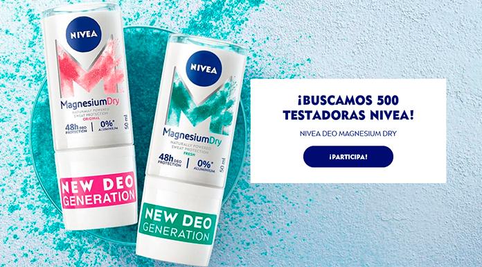 Buscan 500 Testadoras Nivea Deo Magnesium Dry