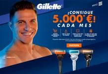 Consigue 5.000 euros cada mes con Gillette