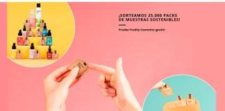 Sortean 25.000 muestras sostenibles Freshly Cosmetics