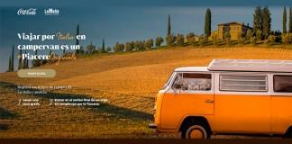 Sorteo de un viaje en campervan por Italia de Coca Cola