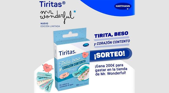 Sorteo de 200 euros en Mr. Wonderful y Tiritas