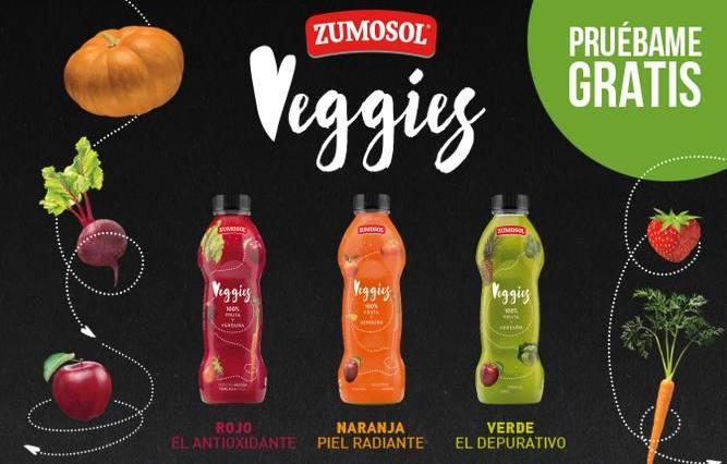 Prueba gratis los Veggis de Zumosol