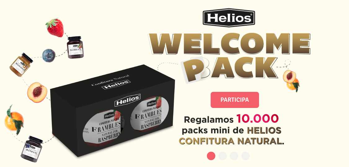 Pack de bienvienida gratis de Helios Confitura Natural