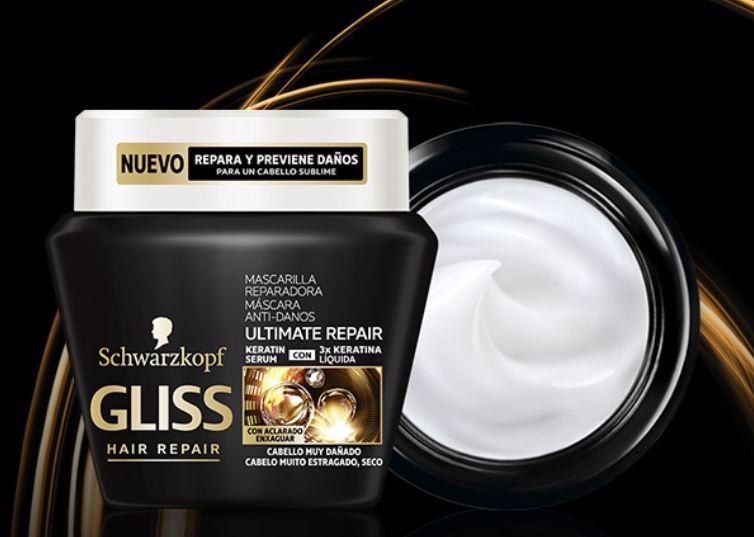 Muestras gratis de mascarillas para el pelo Gliss Ultimate Repair